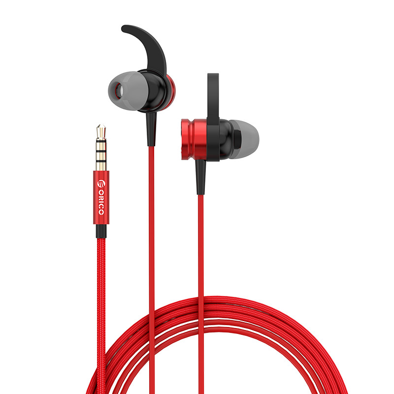 Гарнитура ORICO SOUNDPLUS (RS1-RD), Red/Black, Наушники