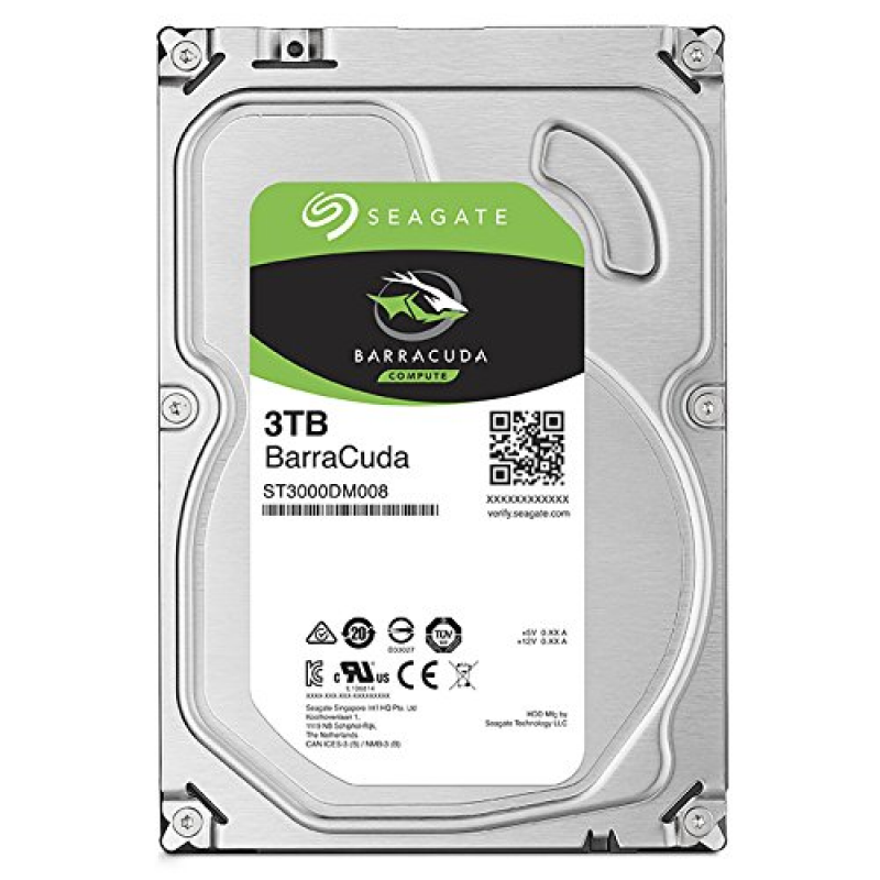 "HDD 3Tb Seagate Barracuda 3,5"" (ST3000DM008) ARM, HDD Жесткие диски"