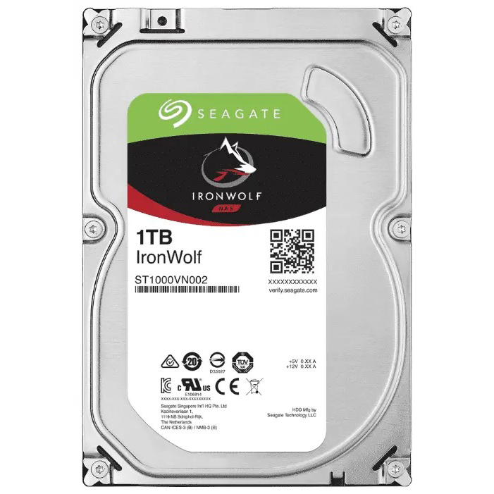 "3,5"" HDD 1Tb Seagate IronWolf (ST1000VN002), HDD Жесткие диски"